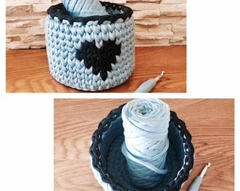 Blue Storage Basket Crochet