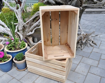 Wooden Crate Rustic Reclaimed Wood Apple Crate