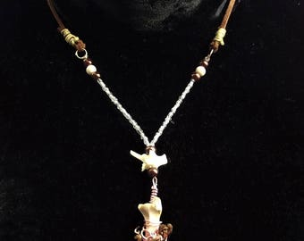 Rosegold bone necklace