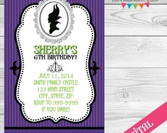 DIGITAL Maleficent Party invitation