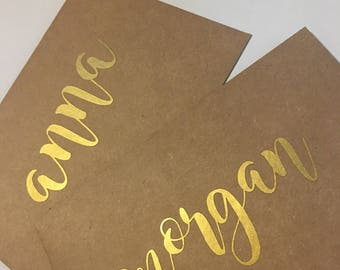 ADD GIFT MESSAGE to any purchase- handwritten message with vinyl calligraphy name on envelope.