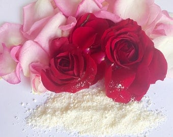 Natural Rose Petal Bath Salts, 10 oz, Gift, Bath, Relax, Rejuvenate, Dead Sea Salt, Eu