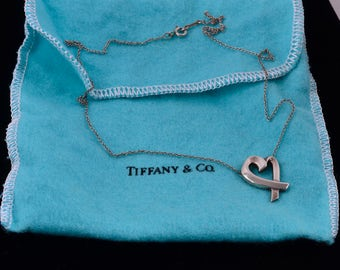 Authentic Tiffany & Co. Paloma Picasso Sterling Silver Love Necklace