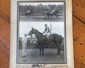 Winners circle black and white original photo