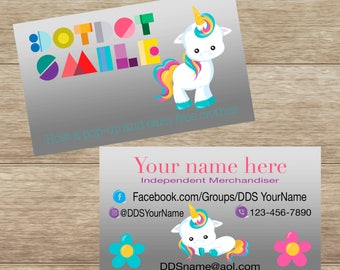 Unicorn Business Card, Digital Download, Customized,  Printable and Double Sided
