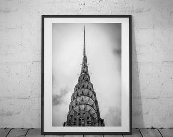 New York Print, Modern Wall Art, NY City Photo, Black-White Photo, City Photography, Printable Poster, Digital Download, 3 JPG's
