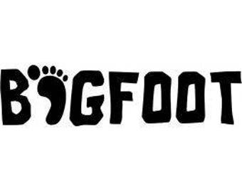 Bigfoot Horror Vinyl Car Decal Bumper Window Sticker Any Color Multiple Sizes