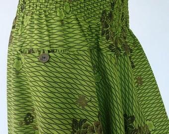 Harem pants; Aladdin-green/yellow
