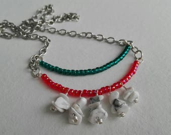 Choker ' Bars ' with toho beads and chips in aulite