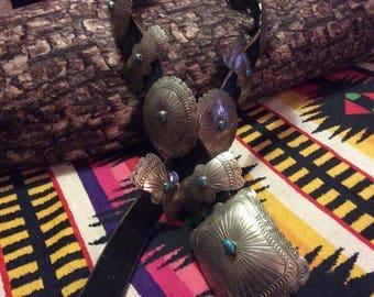 Native american's Concha belt