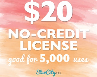 No-Credit Commercial License for up to 5,000 uses, Commercial License, Clipart License, Commercial use for clipart