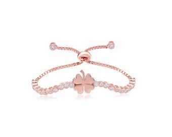 Bracelet 925 Silver lucky clover