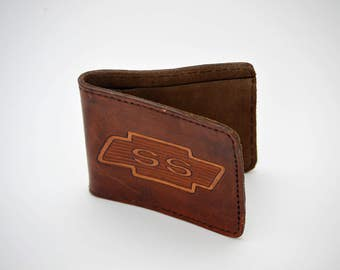Distressed CHEVY SUPER SPORT Leather Wallet