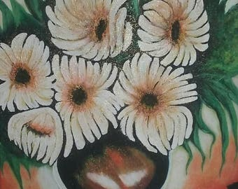 Flowers Acrylic Hand Painting