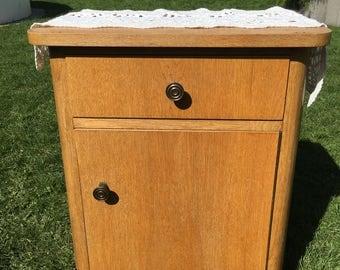 Cabinet vintage bedside tables 50, chest of drawers