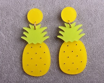 Bright Pineapple Earrings