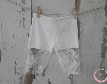 Lace pants JANA, stretch,broekje met kant,chantilly,boy or girl