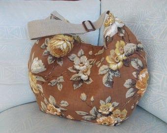 large floral hobo bag