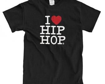 I Love Hip Hop Black T- Shirt
