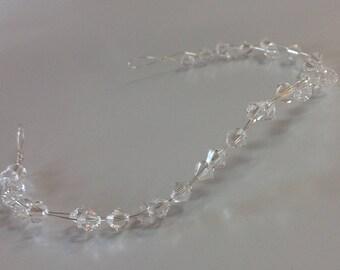 Swarovski Crystal Hair Vine Tiara Bridal Hair vine Wedding tiara Uk Handmade