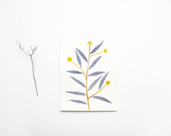 Original Painting, A5, Yellow Flowers