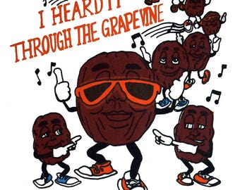 California Raisins (Heard It Thru The Grapevine) Adult T-Shirt