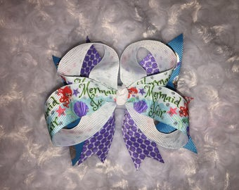 Mermaid Hair Stacked Boutiqe Bow