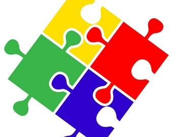 Multi Color Autism Vinyl Decal