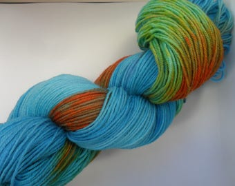 """100gms hand painted BFL/Nylon yarn """"Knew you were waiting"""""""