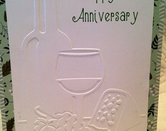 Happy Anniversary - Handcrafted Greeting Card w/verse - Wedding Anniversary Card - W/Heartfelt Messages