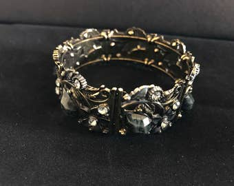 Stone Beaded Stylish Cuff Bracelet for Women