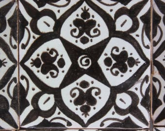 Hand-painted tile Feysa decorative tile wall tile hand-painted Mediterranean Moroccan tile 10 x 10 cm handmade wall art murals