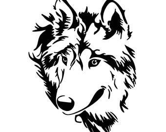 Wolf Head Graphics SVG Dxf EPS Png Cdr Ai Pdf Vector Art Clipart instant download Digital Cut Print File Cricut Silhouette Decal