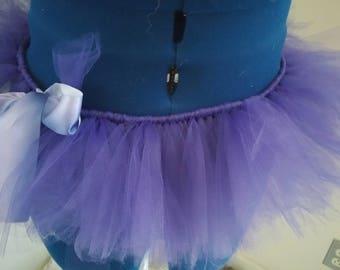 purplr tutu with ombre ribbon