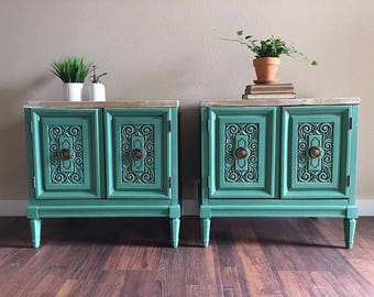 SOLD -EXAMPLE- Upcyled Vintage End Tables