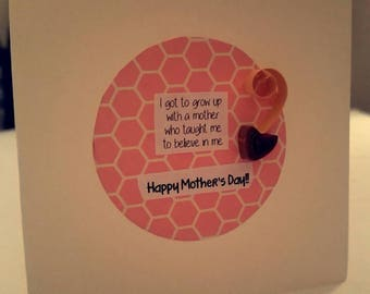 Handmade mother's day card / quilled card