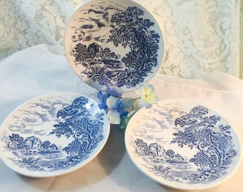 "Set of 3 - Enoch Wedgwood Countryside 5 1/2"" Saucers"