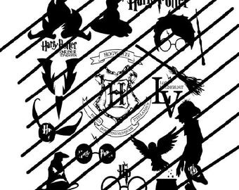 Harry potter  svg bundle file for use with silhouette and cricut, vinyl cutting, crafts ideal for crafters