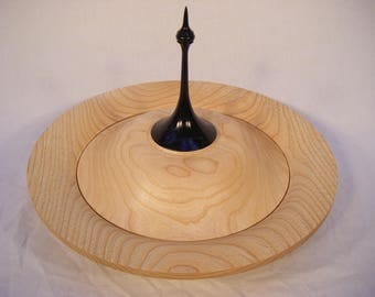 Lidded Ash Bowl With Ebonisied Finial.