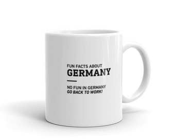 Fun Facts About Germany - Coffee Mug - Office, Work, Funny