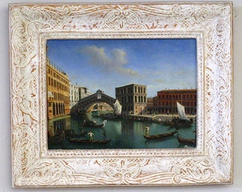 "Oil painting ""view from the Rialto Bridge"""