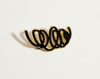 Black Enamel Pin Brooch enamel brooch