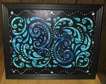 Blue swirl Wall decor