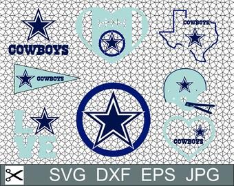 Dallas Cowboys Layered SVG Dxf Eps Logo Vector File Silhouette Studio Cameo Cricut Design space Template Stencil Vinyl Decal Craft Project