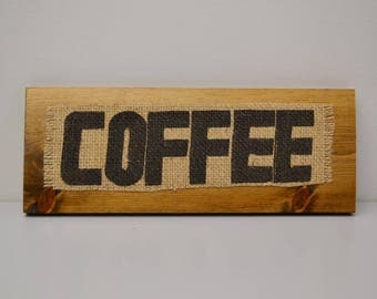 Burlap Coffee Sack Wall Hanging— Coffee