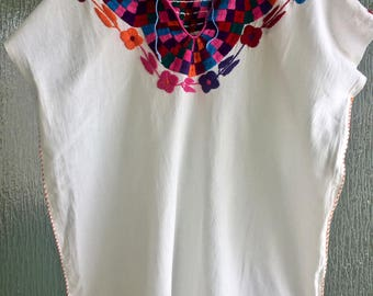 Vintage Mexican Embroidered Tunic