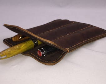Triple Pen Sleeve.  Stylish protection for your favorite fountain pens or signature pens.