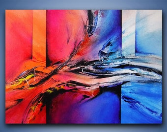 Abstract painting / Wall art / Contemporary abstract / Modern art / Youtube painting / Ray Grimes / 11x14