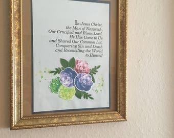 Framed Floral Statement: Jesus the Man of Nazareth