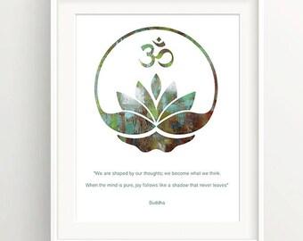 Buddha Quote Print, Buddha Art, Inspirational Quote Print, Motivational Wall Decor, Minimalist Art Print, Typography Wall Art, Wall Decor